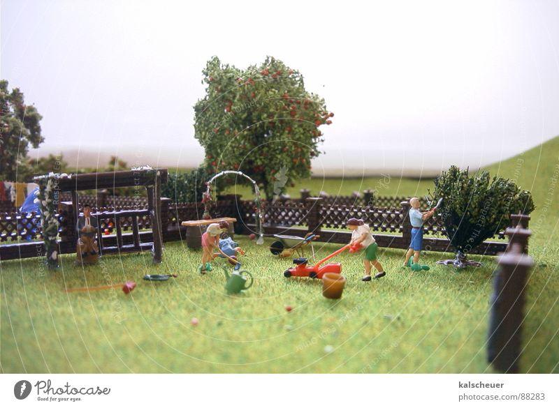 garden care Fence Lawnmower Green Fog Weekend Garden Park Pattern Placed