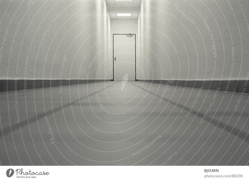 Colour Dark Wall (building) Emotions Office Line Architecture Door Horizon Tall Perspective Gloomy Floor covering Threat Target Long