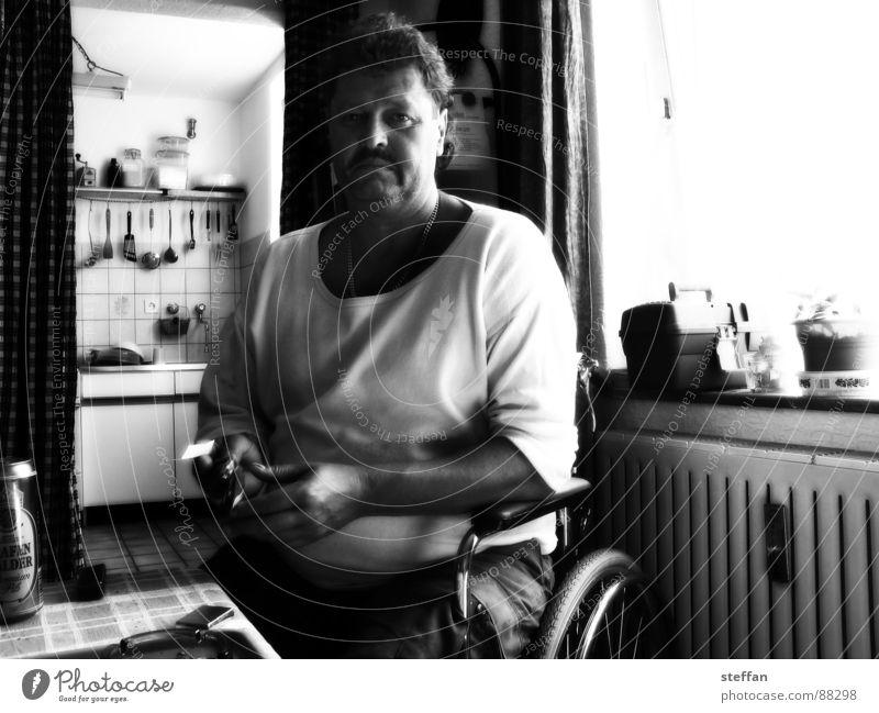 Micah Wheelchair Social law Illness Beer Man Black & white photo Germany