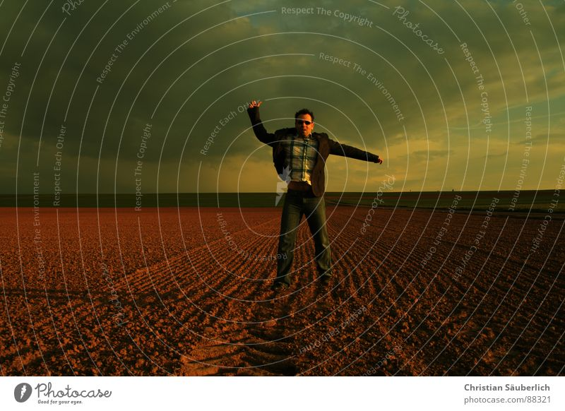 LAST MOVE Going Field Meadow Horizon Sunset Looking Sunglasses Man Sky Loneliness Shadow christian neatly look back look over one's shoulder