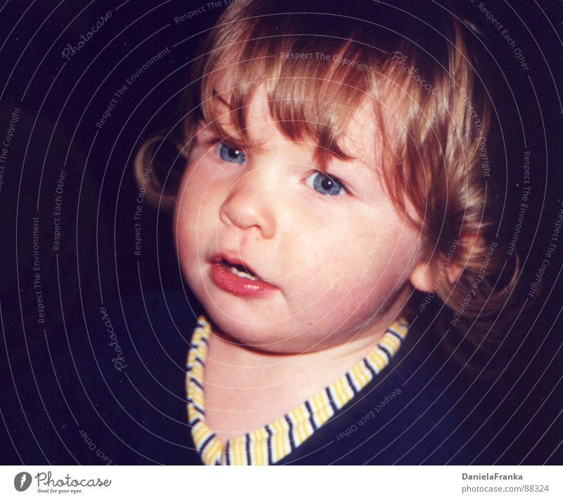 Human being Girl Blue Eyes Cute Toddler Amazed Marvel