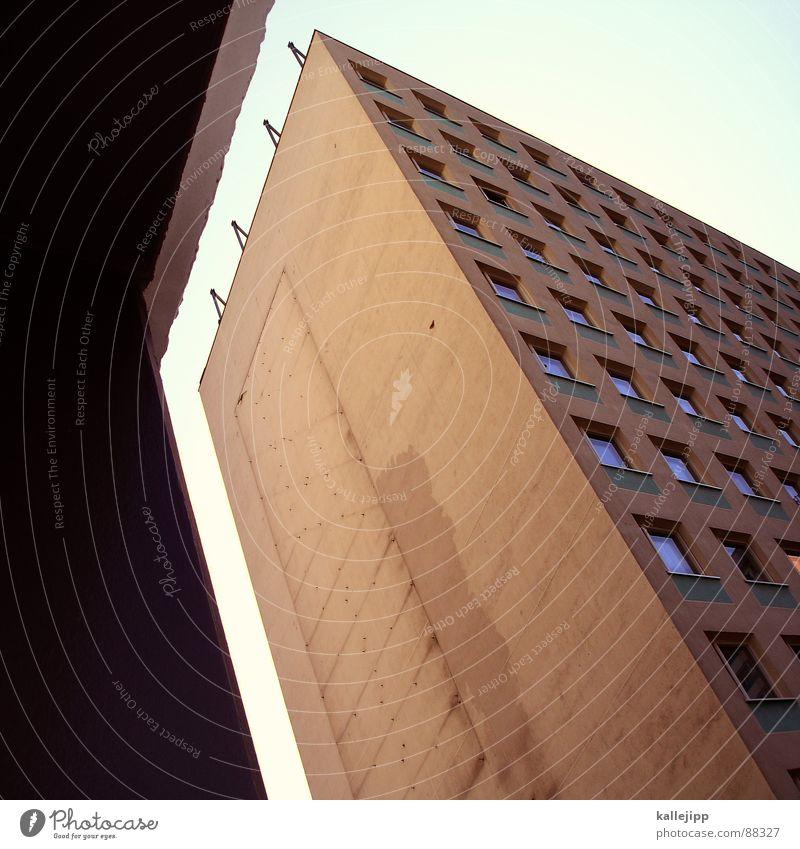 Berlin Window Architecture Germany Poverty Facade Stairs Gloomy Vantage point Arrow Universe Farm GDR Pallid Hip & trendy