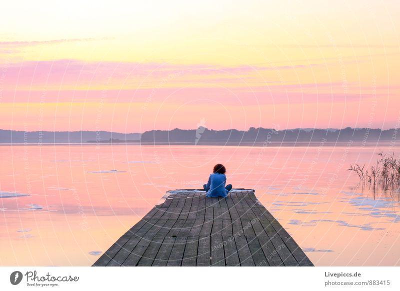 Human being Sky Child Nature White Water Summer Landscape Yellow Coast Boy (child) Playing Gray Pink Orange Gold