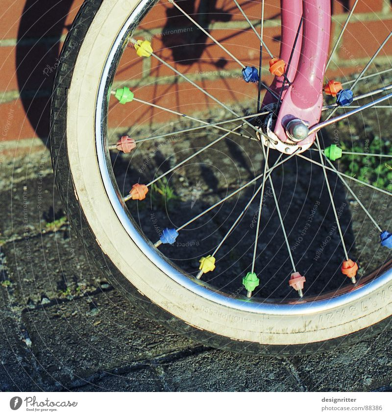 without support wheels Bicycle Kiddy bike Wheel Fork Multicoloured Playing girls' bicycle Axle Spokes children tyre color colors colours Infancy