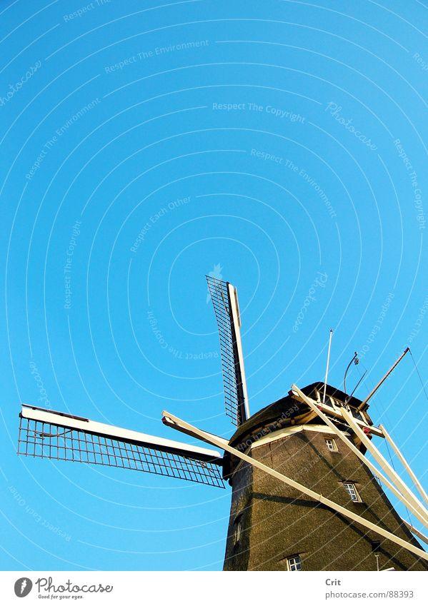 windmill Sky Old-school Minimal Industry Wind Energy industry old maggot minimalistic Farm blue
