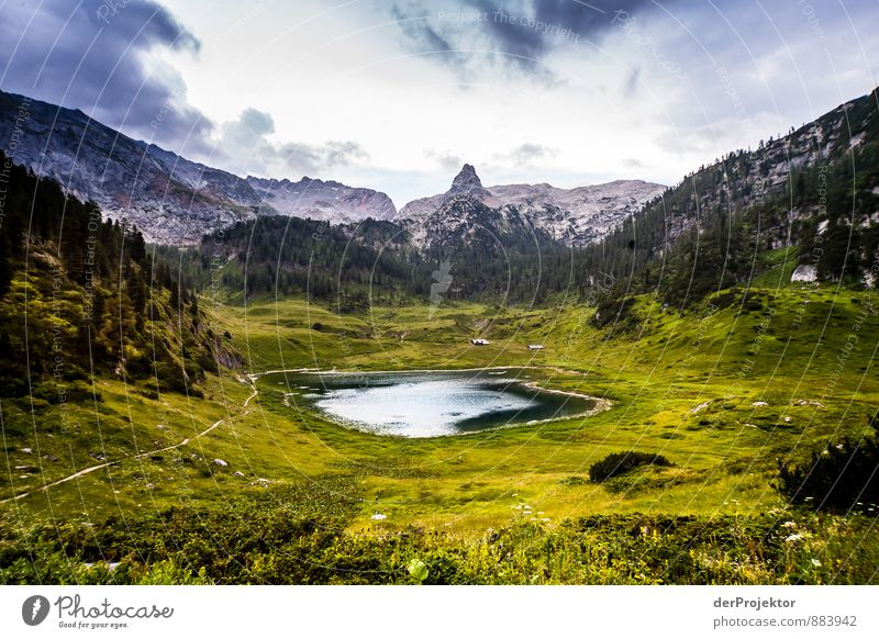 The Funtensee is a karst lake Vacation & Travel Adventure Far-off places Freedom Hiking Environment Nature Landscape Plant Elements Summer Bad weather Hill Rock
