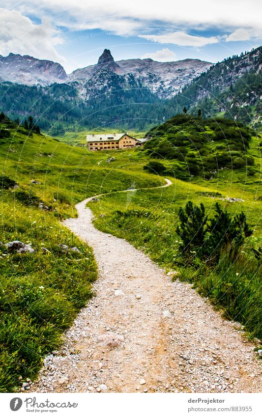 The way to the Kärlingerhaus at Funtensee Vacation & Travel Tourism Adventure Far-off places Hiking Environment Nature Landscape Plant Summer Hill Rock Alps