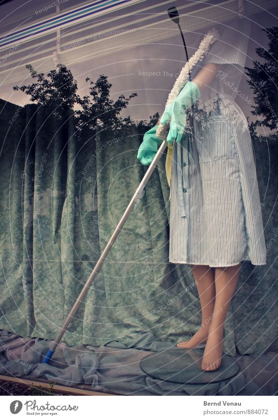 Woman Blue City Tree Funny Gray Feet Brown Decoration Cleaning Dress Cloth Downtown Store premises Whimsical Window pane