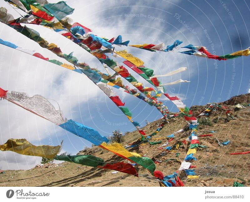 Colour Wind Flag Asia Prayer Swing Tibet Prayer flags