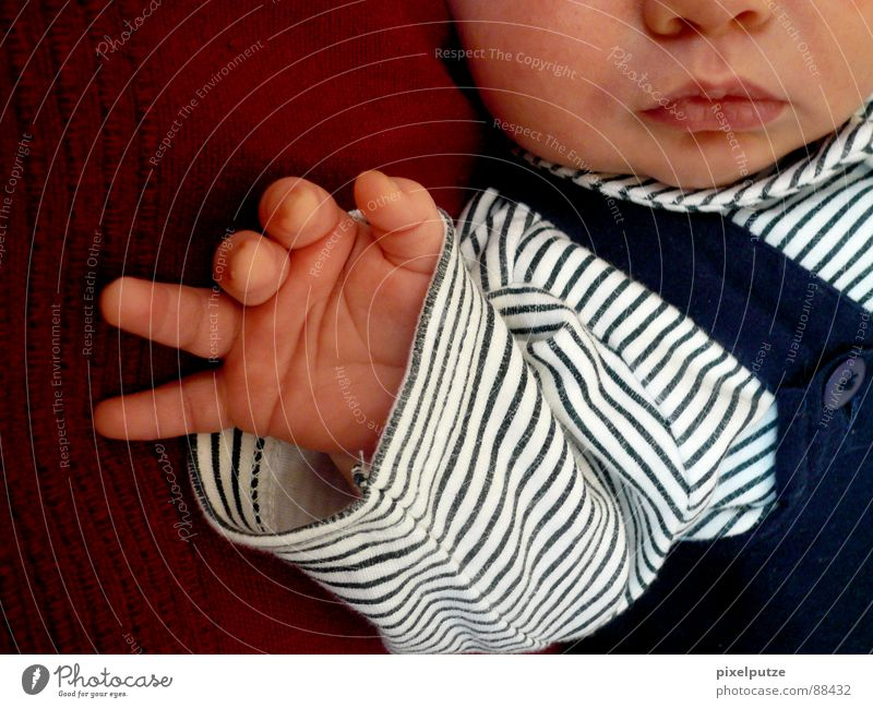 Human being Child Hand Face Boy (child) Small Baby Mouth Nose Growth Stripe Posture Peace Trust Living thing Toddler