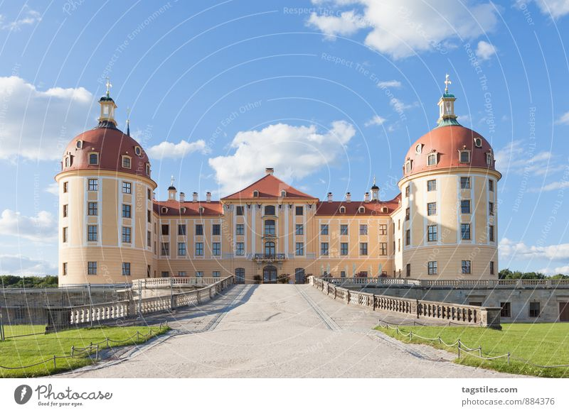 Vacation & Travel Travel photography Architecture Germany Idyll Tourism Culture Castle Card Past Luxury Dresden Saxony Moritzburg Moritzburg castle