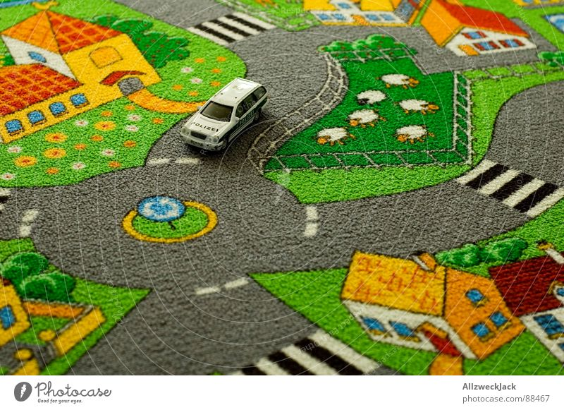 Playing Car Infancy Tall Education Toys Village Sheep Kindergarten Street Carpet Road traffic Laws and Regulations Flock Bird's-eye view Giddy
