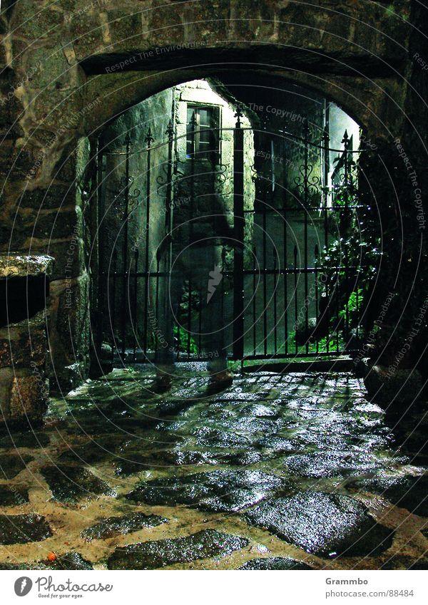 Dark Stone Wall (barrier) Metal Fear Farm Gate France Ghosts & Spectres  Granite Masonry