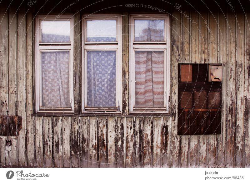 Window Wood Empty Derelict Train station Mail Drape Mailbox Frame