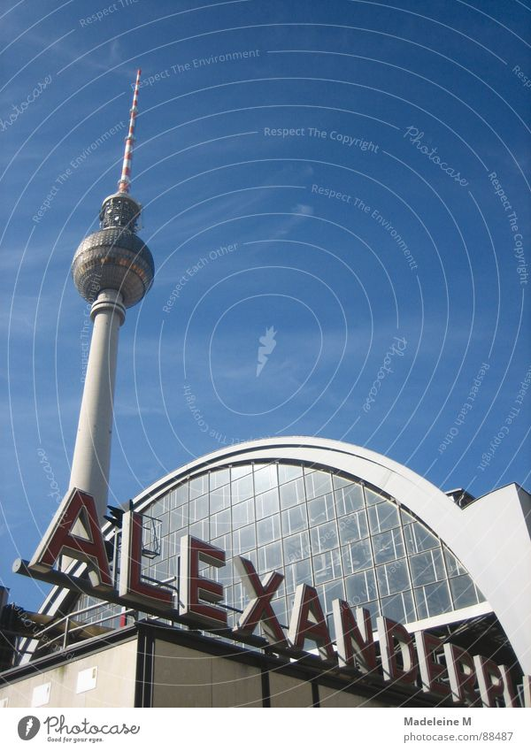 Sky Far-off places Berlin Architecture Tall Train station Deep Beautiful weather Alexanderplatz
