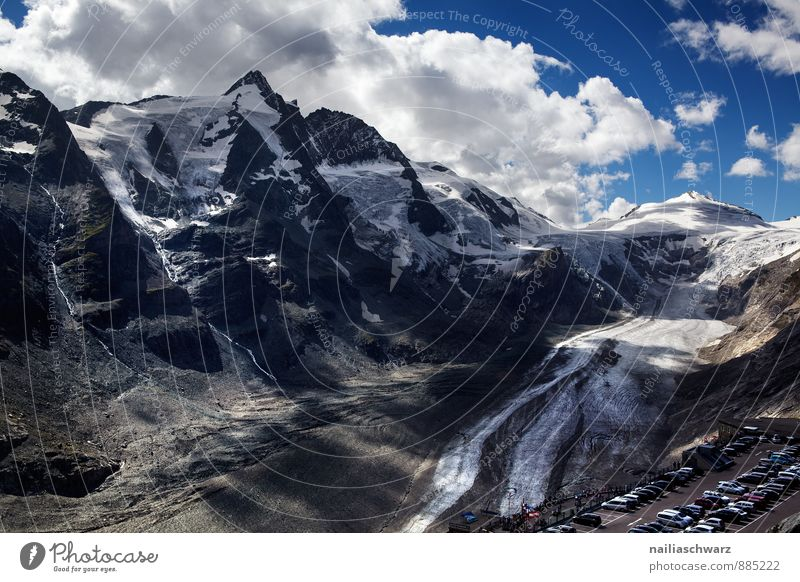 Großglockner Summer Environment Nature Landscape Climate change Snow Alps Mountain Peak Snowcapped peak Glacier Canyon Gigantic Infinity Beautiful