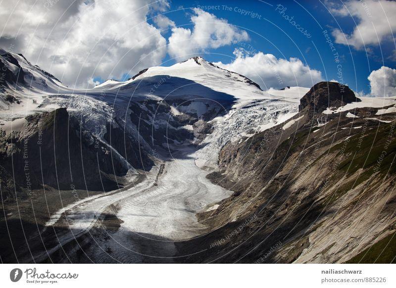 Pasterze Glacier Summer Environment Nature Landscape Climate Climate change Alps Mountain Peak Snowcapped peak Famousness Gigantic Infinity Natural Beautiful