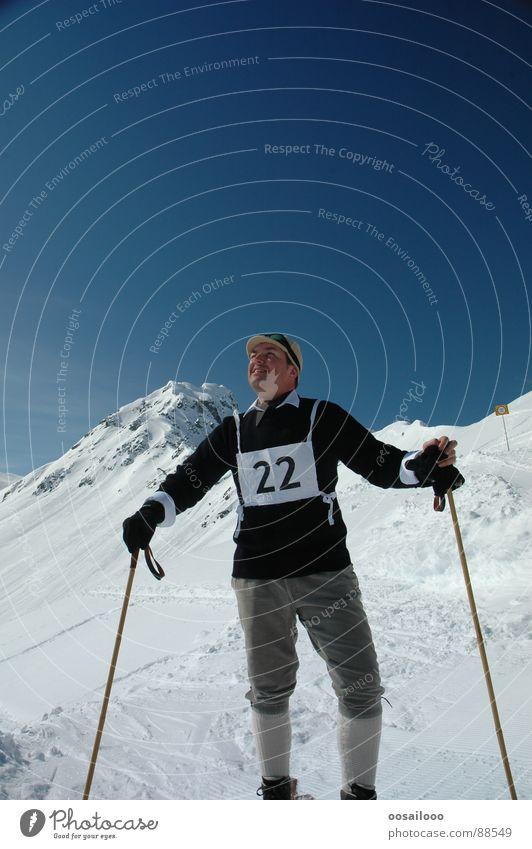 White Blue Winter Sports Snow Playing Mountain Skiing Alps Nostalgia Skier Winter sports