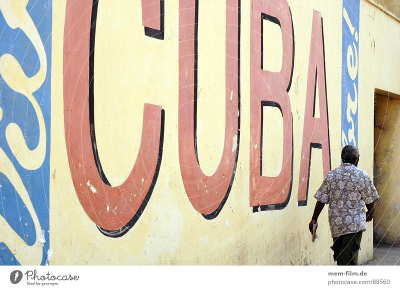 cuba libre Cuba Havana High-rise Politics and state Socialism Communism Tourism Town Vacation & Travel Green Third World North America Graffiti Mural painting