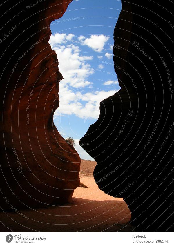 Sky Clouds Dark Rock USA Desert Americas Canyon