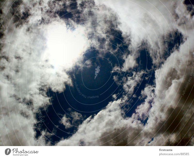 Sky Blue White Sun Clouds Rain Fog Fresh To fall Hollow God Thunder and lightning Vista Bad weather Deities Swirl
