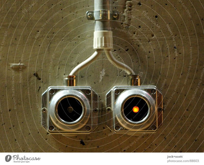 Short Circuit Wall (building) Eyes Style Wall (barrier) Bright Brown Metal Arrangement Design Illuminate Modern Energy Esthetic Technology In pairs Circle