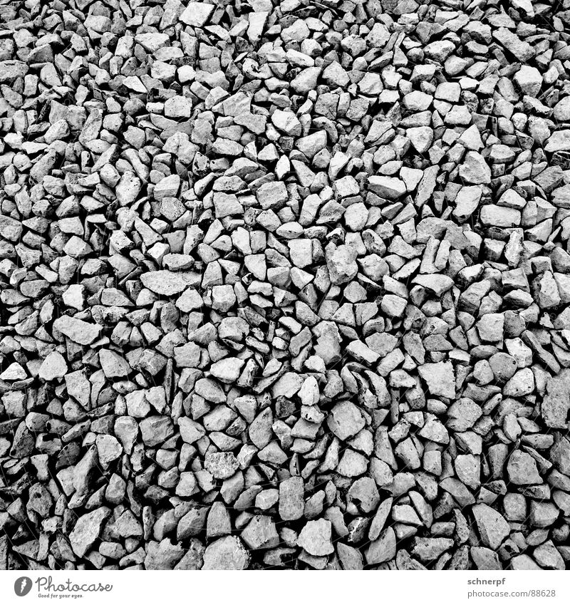 gravel Gravel Subsoil Structures and shapes Gray Industry Black & white photo Mountain Stone Cool (slang)