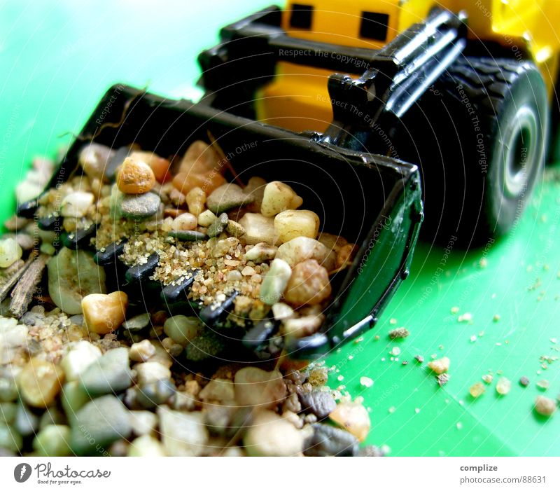 Green Joy Playing Stone Rock Infancy Construction site Toys Vehicle Craft (trade) Construction worker Minimalistic Lift Excavator Shovel Miniature