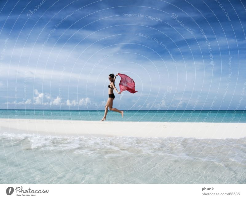 Woman Water Beautiful Vacation & Travel Sun Ocean Joy Beach Jump Bright Weather Walking Romance Clarity Airport Bikini