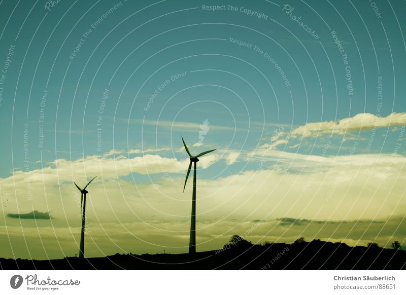 Sky White Blue Wind Industry Wing Wind energy plant Ecological Rotate Shovel Rotor Renewable energy