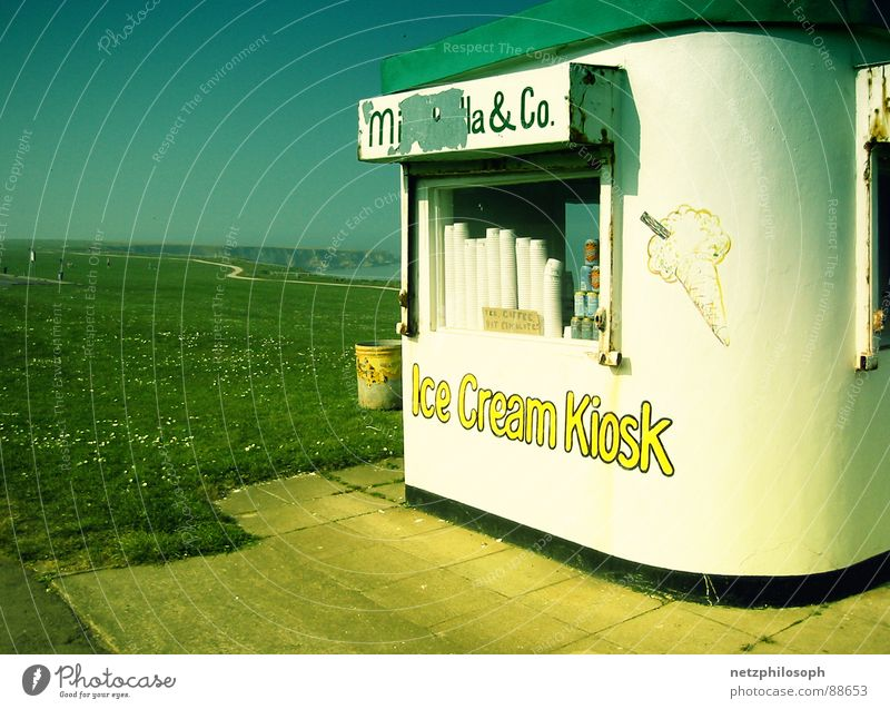 Beach Ice Coast Gastronomy Store premises England Express train Kiosk