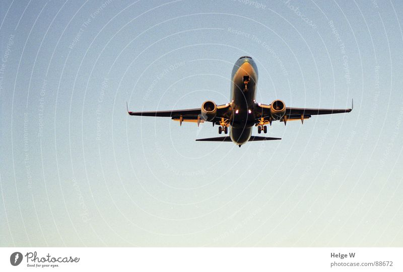 Sky Blue Vacation & Travel Freedom Airplane Aviation Infinity Machinery Come Engines Return Passenger plane