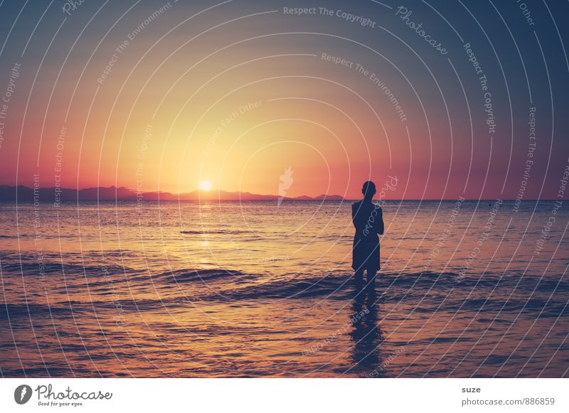 Human being Sky Nature Vacation & Travel Youth (Young adults) Man Ocean Loneliness Young man Environment Adults Travel photography Coast Style Masculine Idyll