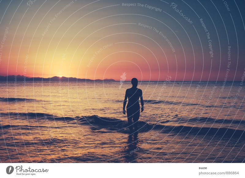 Human being Sky Nature Vacation & Travel Youth (Young adults) Man Ocean Loneliness Young man Adults Environment Travel photography Coast Style Going Masculine