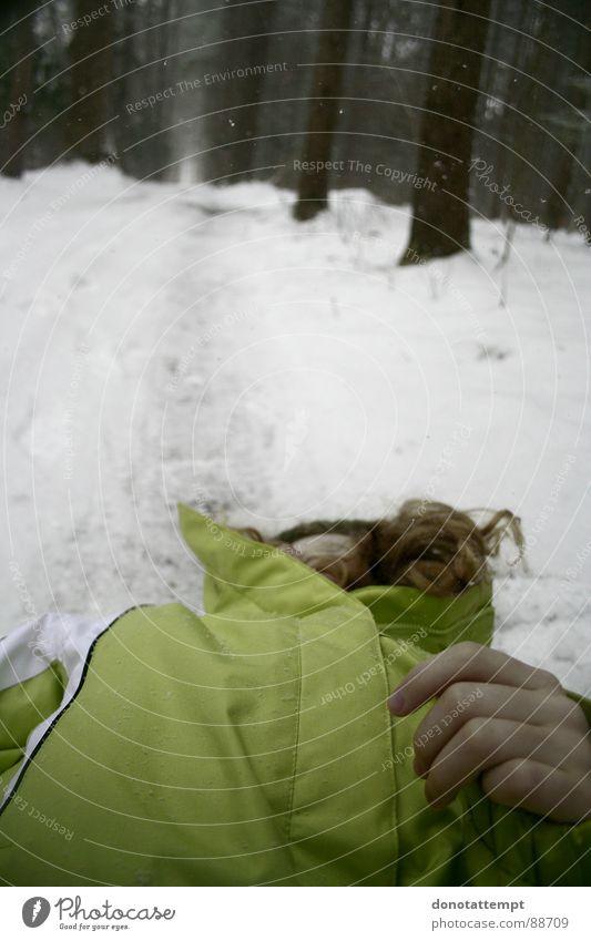 ma sœur Winter Nature Colour young pale trees cold frozen white child dead forest coat snow dying frail sad Exterior shot