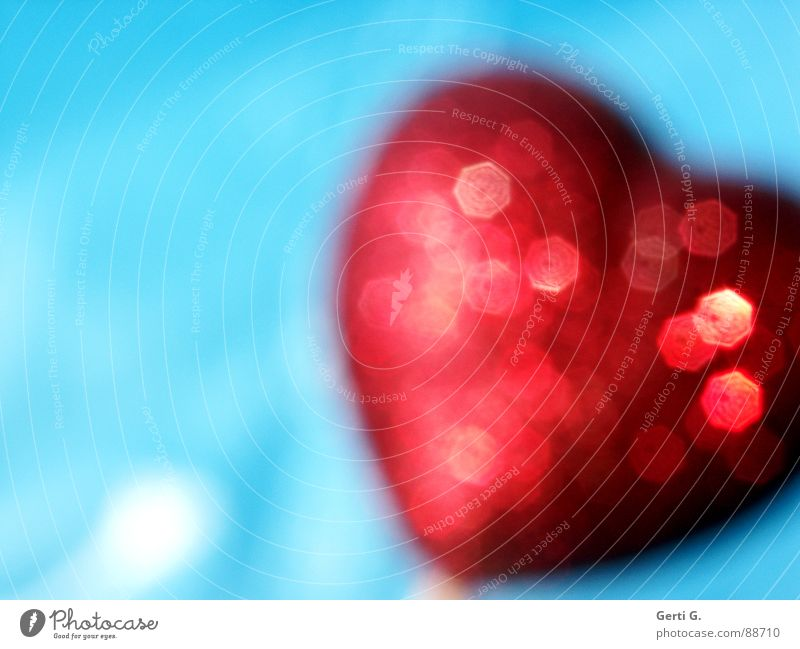 Blue Red Love Heart Glittering Crazy Decoration Symbols and metaphors Turquoise Salutation Valentine's Day Flashy Sky blue Light blue Gaudy Sincere