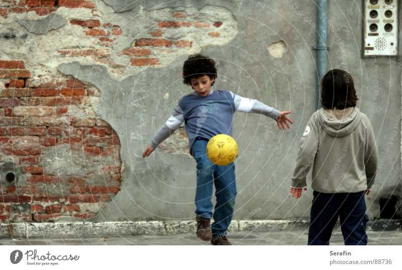 football match Playing Child Play instinct Sports Soccer Gate Ball Tread goal goalkeeper