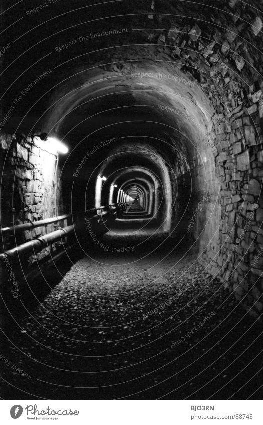 White Black Dark Wall (building) Stone Fear Perspective Film industry Long Analog Tunnel Narrow Vertical Gravel Panic England