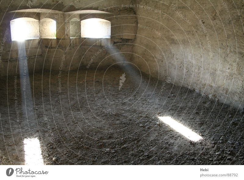 Sadness Hope Grief Derelict Historic Distress Fortress Shaft of light Tracer path