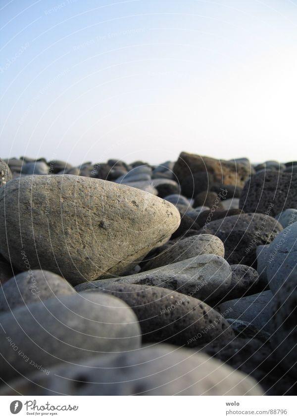 Sky Blue Beach Vacation & Travel Gray Stone Coast Pebble Minerals Tenerife