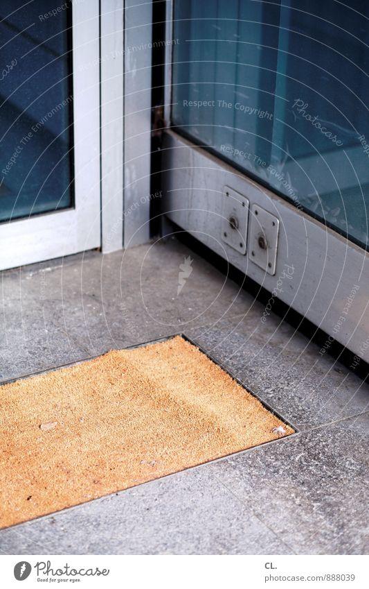 Blue Window Brown Gloomy Door Ground Entrance Sharp-edged Photos of everyday life Front door Floor mat