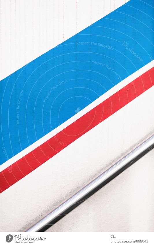 blue red white Wall (barrier) Wall (building) Stairs Rod Line Stripe Sharp-edged Simple Blue Red White Advancement Optimism Growth Upward Graphic