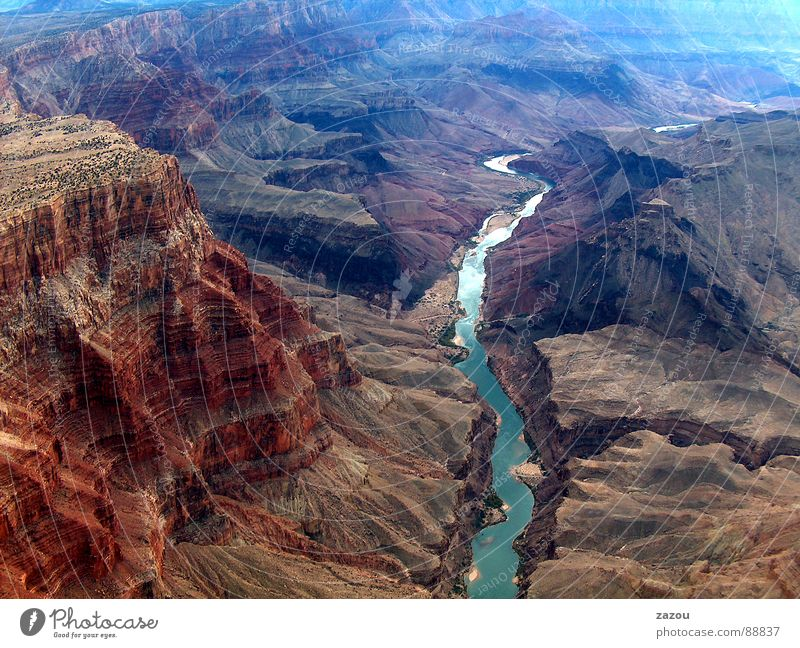 Nature Landscape Environment Rock Earth USA River Aerial photograph Americas Utah Canyon National Park Nature reserve Arizona Colorado Grand Canyon