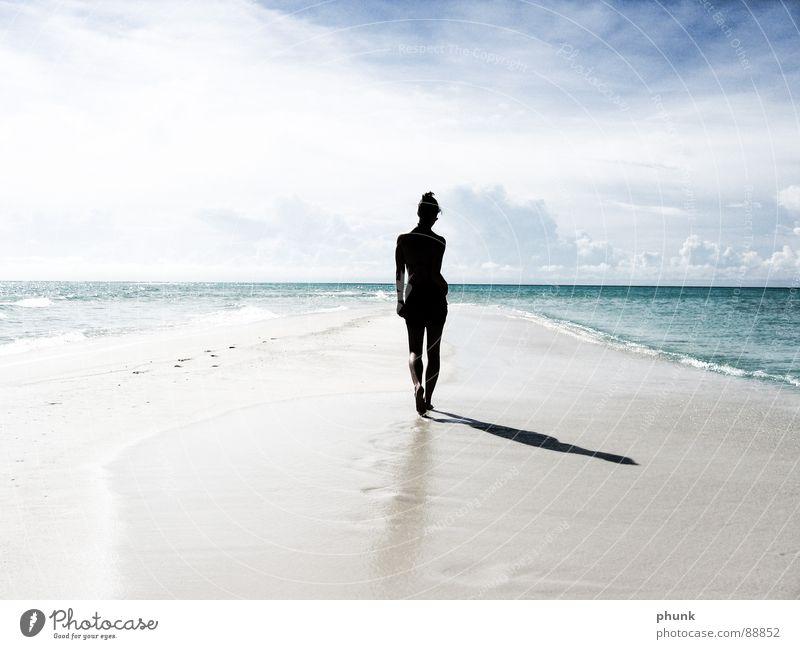 Woman Water Beautiful Vacation & Travel Sun Summer Ocean Joy Beach Jump Earth Bright Weather Going Walking Romance