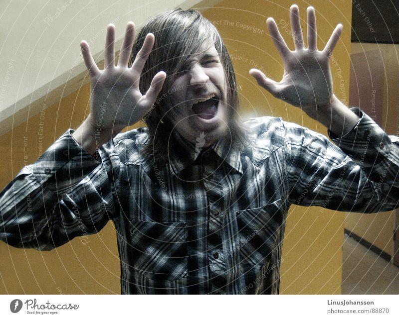 Yellow Fear T-shirt Anger Panic Aggravation Stucco