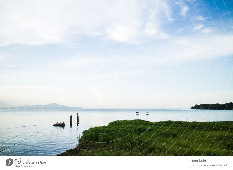 Sky Blue Water Lake Beautiful weather Lakeside Surface of water Central America
