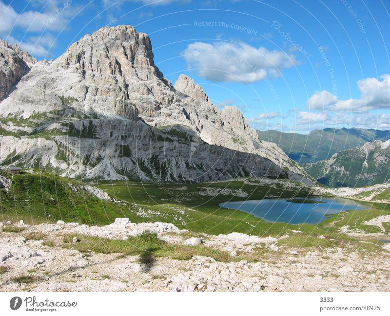 Nature Clouds Mountain Large South Tyrol Lake Mountain lake