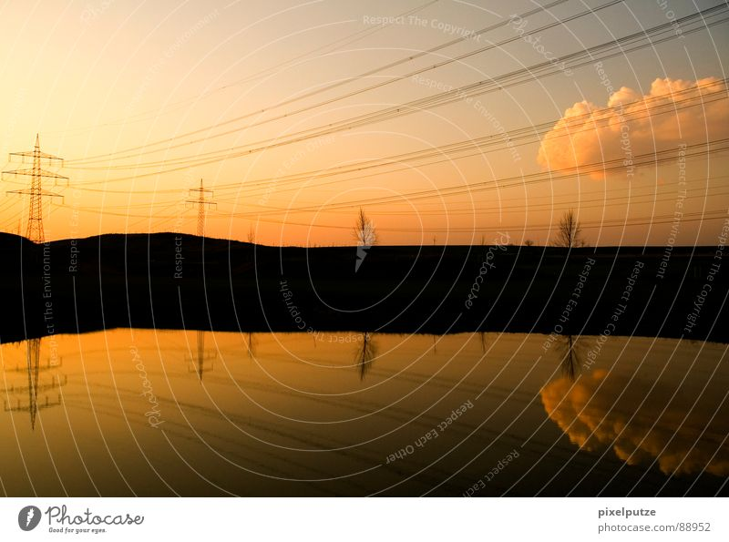 Nature Water Sky Sun Clouds Garden Lake Park Warmth Air Line Moody Horizon Closed Energy industry Electricity