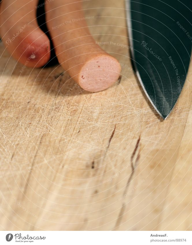 Nutrition Cooking & Baking Meat Knives Chopping board Cut Sausage Haircut Small sausage Prepare the food Cut off