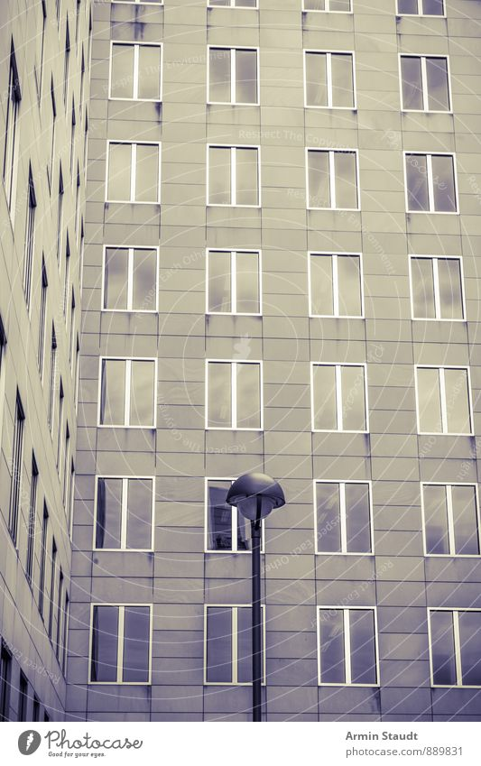 City Loneliness House (Residential Structure) Dark Window Wall (building) Architecture Wall (barrier) Building Background picture Moody Facade Modern Esthetic